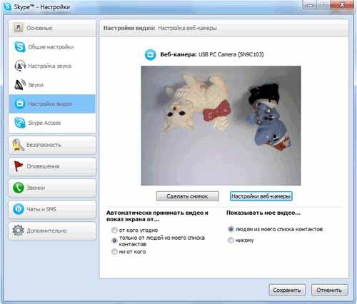 Как сделать снимок в скайпе на ноутбуке