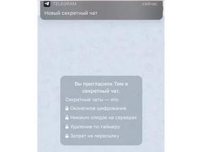 Как сделать скриншот в секретном чате telegram